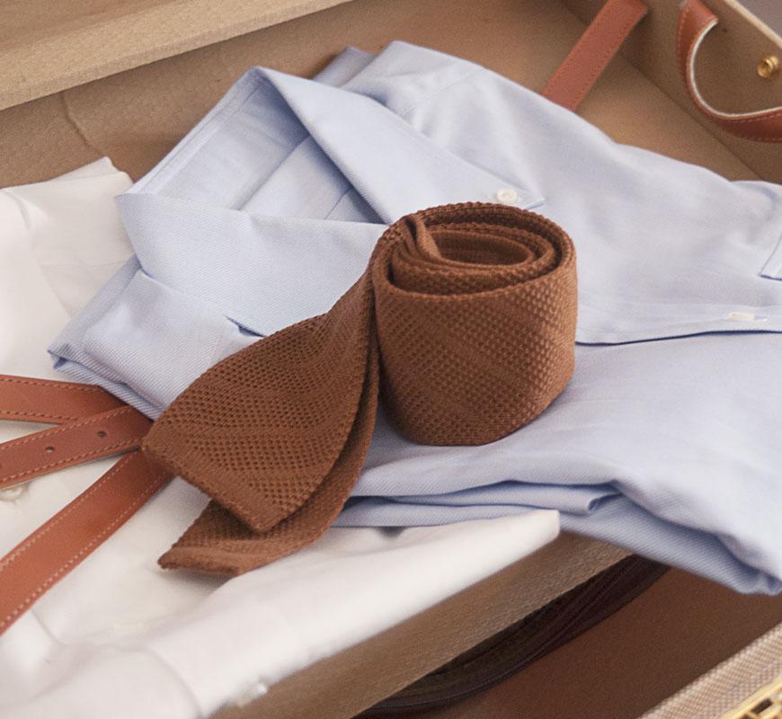 brown-knit-tie